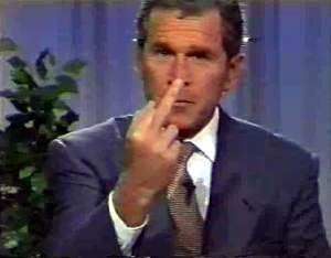 Bush gives Earth Day the finger